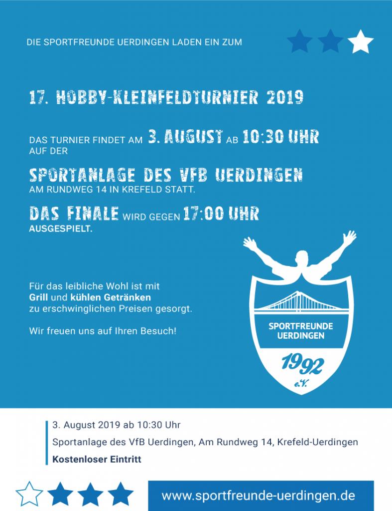 Freizeitfußball Hobbyturnier Krefeld 2019
